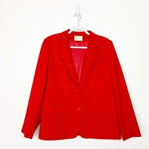 Pendelton Bright Red Wool Blazer Classic Holiday